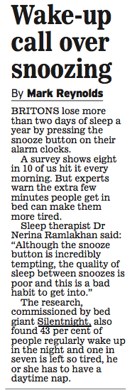 Britain is a Snooze Nation