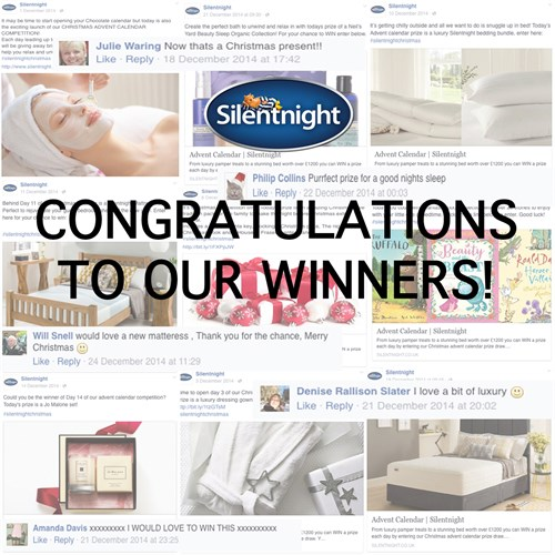 Congratulations to our Christmas Advent Calendar competition winners!