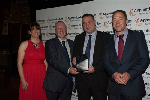 We are regional winners of the National Apprenticeship Awards 2015