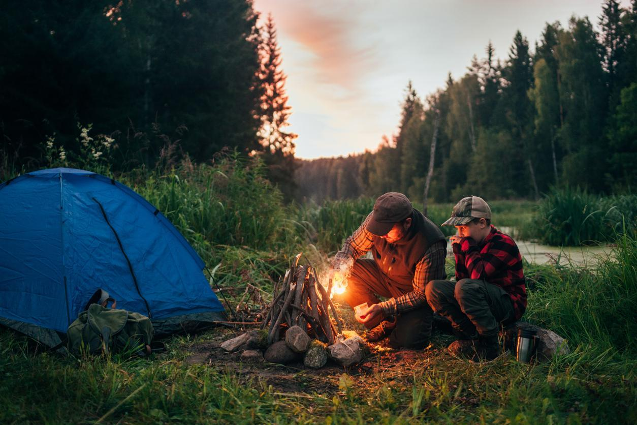 Head to the campsite to feel the benefits of 'hunter-gatherer' sleep when the clocks go forward